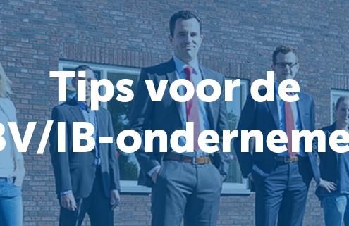Tips voor de BV/IB-ondernemer