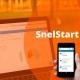 Snelstart programma geopend op een smartphone en laptop.