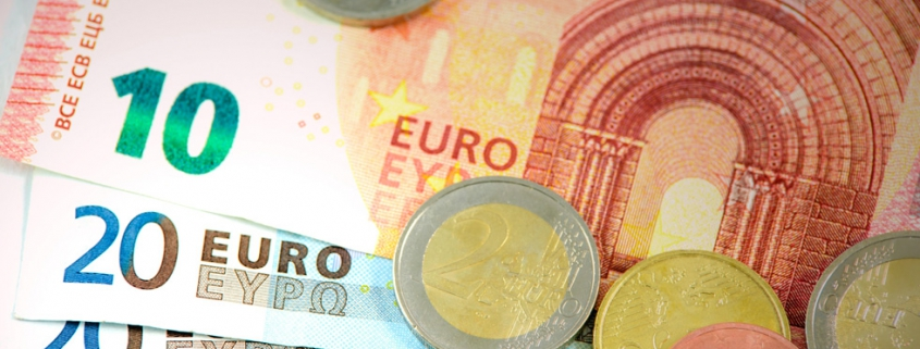 Eurobiljetten en euromunten