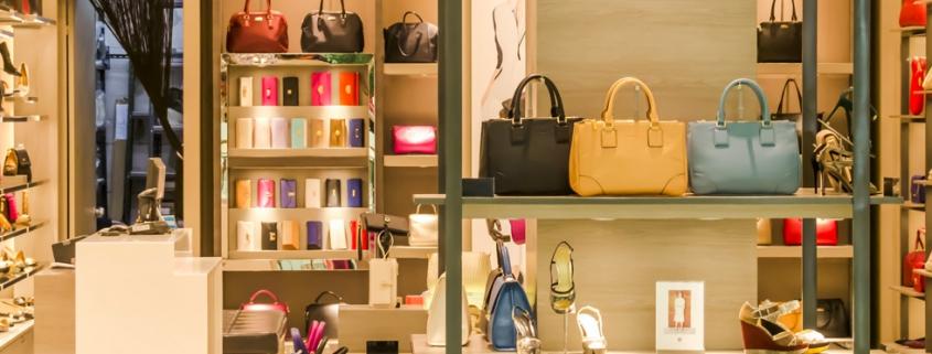 Tassen en schoenen winkel