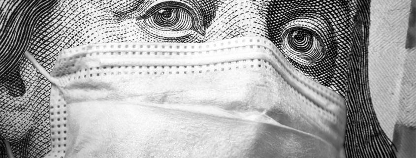 Belastingschuld met een mondkapje